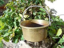 Ancien petit chaudron en cuivre déco cuisine , Pot marmite époque XIXe 23 cm