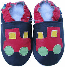 shoeszoo tractor black 6-12m S soft sole leather baby shoes