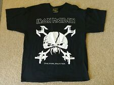 Iron Maiden Final Frontier 2010 - California - Authentic Double Sided T-Shirt XL