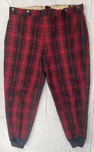 VTG Woolrich Men's Mackinaw Red Buffalo Plaid Wool Hunting Pants 38x31