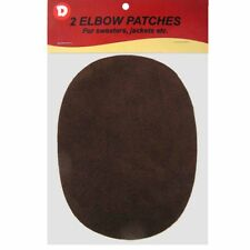 Two Faux-Suede Iron-On Elbow Patches 4.5  x 5.5 in - Dark Brown
