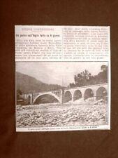 Capo di Ponte 1909 Nuovo ponte sul fiume Oglio costruito in 8 giorni Valcamonica