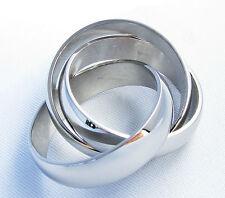 Unisex Modeschmuck-Ringe im Dreierring-Stil aus Edelstahl