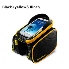 Outdoor Cycling MTB Bicycle Frame Front Pannier Top Tube Double Bag Pouch Holder