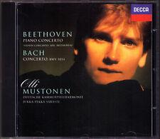 Olli MUSTONEN BEETHOVEN Piano Concerto No.6 BACH BWV 1054 CD Jukka-Pekka SARASTE