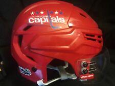 Washington Capitals tom wilson 100th season game used red helmet