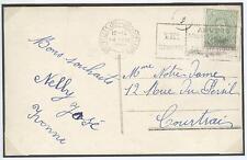 BELGIUM 1920 Olympic Games Antwerp Olympic Machine cancel 14 VIII 1920 Opening