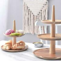 3 Tier Cake Stand Wooden Serving Tray Fruit Platter Holder Cheese Salad Plates