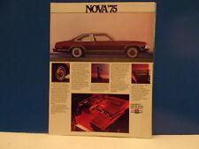 1975 Chevrolet Nova sales brochure