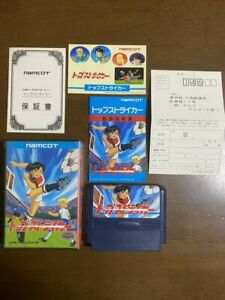 Game soft Famicom 『Top striker』Box and with an instructions from Japan⑧