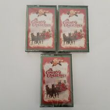 A Country Christmas 3 Cassette Set Readers Digest Various Artist Holidays Sealed