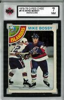 1978-79 O-Pee-Chee #115 Mike Bossy RC Graded 7.0 NM (052619-39)