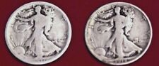 1917 + 1918 (2)  WALKING LIBERTY SILVER HALF DOLLARS ~ GREAT COLLECTIBLE COINS!