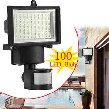 100 LED SMD Luz Lámpara Solar Con Sensor de Movimiento Para Jardín Patio Camino