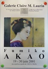 2001 Galerie Claire M. Laurin exposition Fumiko AKAO  AFFICHE ORIGINALE/3bPB