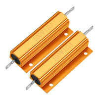 2Pcs Aluminum Case Resistor 100W 1Ohm Wirewound for LED Replacement Converter