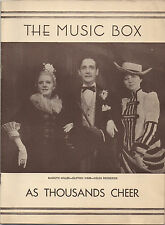 1933 Playbill 'As Thousands Cheer' Clifton Webb Marilyn Miller Ethel Waters