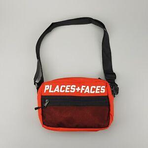 P+F PLACES + FACES RED 3M REFLECTIVE SHOULDER BAG NEW