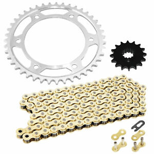 Caltric Blue O-Ring Drive Chain /& Sprockets Kit Fits HONDA 600RR CBR600RR CBR-600RR 2003-2006