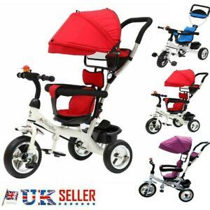 Baby Kids 4 in1 Trike Tricycle 3-Wheel Pedal Bike Girls Boys Push Along Stroller