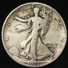 1921-S Walking Liberty Half Dollar CHOICE VG FREE SHIPPING E382 RMM