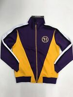 Hudson Outerwear H Crest Track Jacket Purple Mens Sample Large Nice New H6052532