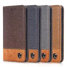 iPhone 6 Hülle Flip Case Handytasche Kunstleder Handyülle Cover in Braun & Blau