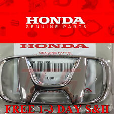 Honda Accord 03-07 CRV 05-09 4Dr Sedan Front Grille H Emblem Chrome NEW GENUINE