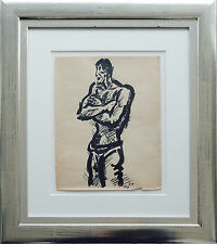 Frans Masereel 1889-1972: Matrose / Le matelot, Tusche / Encre 1948, 26 x 20 cm