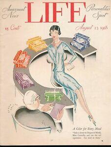 LIFE August 23, 1928 Humor Magazine ART DECO Flapper GGA Secretary TYPEWRITERS
