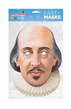 William Shakespeare Single 2D Card Party Face Mask playwright poet stratford