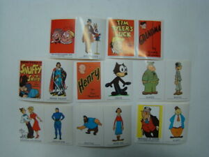 1960's (8) King Features Syndicate Cartoon Character Stickers Prince Valiant