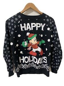 Mickey Mouse merry Christmas Crewneck size Medium 7-9