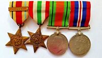 WW2 Medals FULL SIZE Group 1st Army Africa Star, Italy Star, War and Defence
