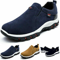 Mens Casual Suede Slip On Gym Outdoor Sneakers Running Hiking Trainers Shoes AU