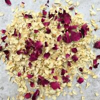 Natural Dried Biodegradable Wedding Throwing Confetti Red Dried Petal Ivory 1L