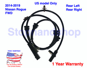 New ABS Wheel Speed Sensor for 2014-2019 Nissan Rogue FWD Rear Left / Right US