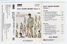 ELVIS PRESLEY - ELVIS' GOLDEN RECORDS VOLUME 2   *RARE CASSETTE TAPE*