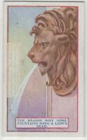 Why Some Fountains Have A Lion's Head 90+  Y/O Ad Trade Card