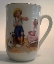 Norman Rockwell Museum Mug Cup Music Master Seal Authenticity Spotted Dog Flute