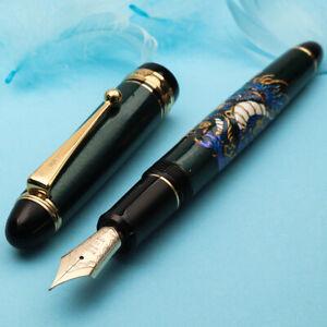 Pilot Custom 743 Blue Dragon CYAN Urushi Art 14K Gold F Nib Fountain Pen
