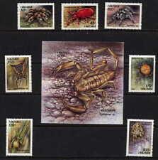 TANZANIA 1994 SPIDER SET AND SOUVENIR SHEET MINT COMPLETE - $8.00 VALUE!