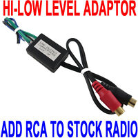 Speaker to Gold Female RCA High to Low Line Output Converter for Car/Home Audio