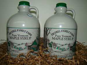 1 Gallon Vermont Organic Maple Syrup (Ships as 2 Half Gallons)