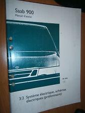 Saab 900 : manuel atelier partie 3:2 Equipement électrique schémas 1997