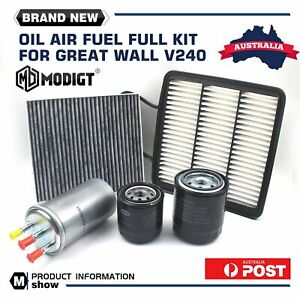 SERVICE KIT for GREAT WALL V200 DIESEL 2011-ON OIL AIR FUEL CABIN FILTER