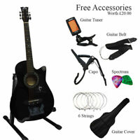 """CLASSIC 6 STRING 4/4 SIZE 38"""" ACOUSTIC GUITAR PACK WITH STAND + ACCESSORIES"""