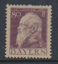 Germany (Bavaria) - 1911/13, 80pf Violet/Drab - Type I - M/M - SG 147