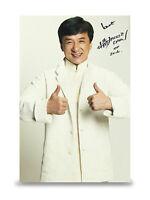 Jackie Chan Signed 12x8 Photo Autograph Actor Memorabilia COA