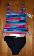 NWT Womens Multi-Color ESSENTIALS BY GOTTEX Tankini Swimsuit Size 12
